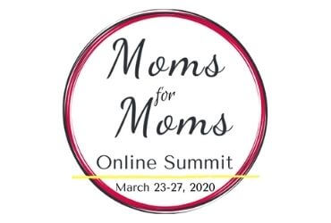 moms for moms online summit logo from 2020